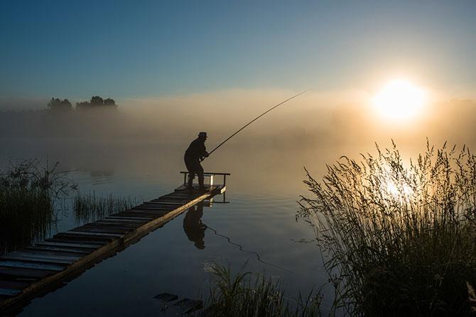 Ловля берша на озере