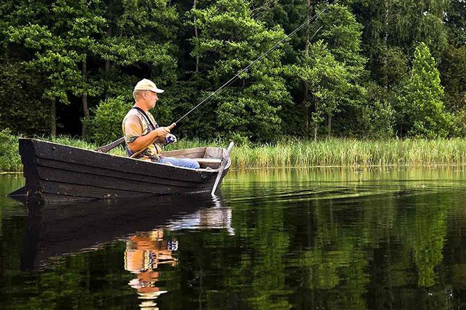 Ловля берша с лодки
