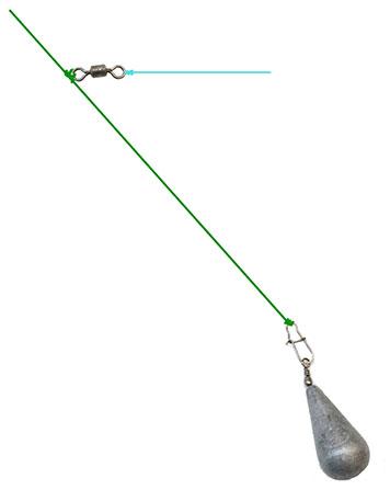 Отводной поводка с одинарной вертлюжкой