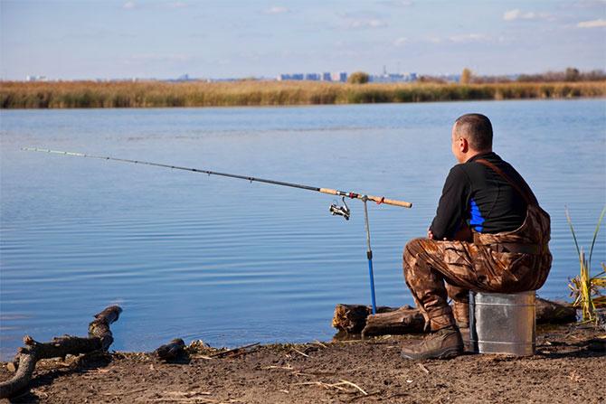 Рыбалка с берега в Белоруссии