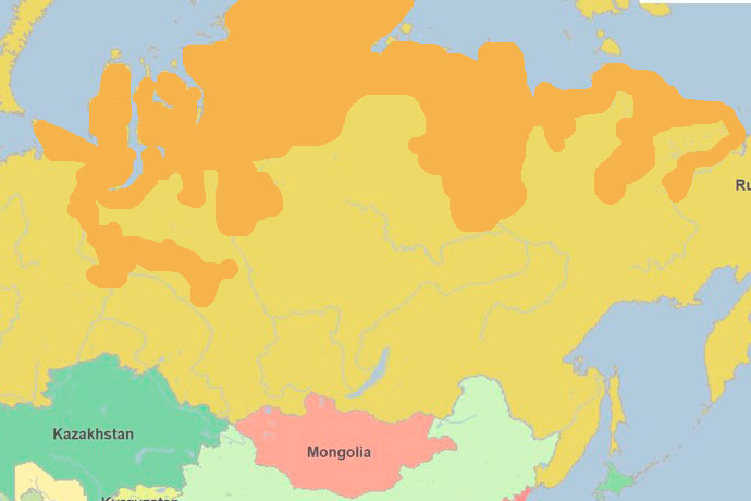 Муксун - ареал обитания